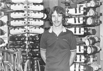 Current Owner, Eric Burt, soon after taking over the shop in 1983